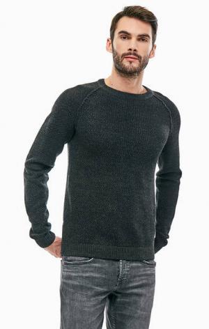 Хлопковый свитер с молниями по бокам Jack & Jones. Цвет: серый