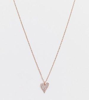 Ожерелье цвета розового золота с маленькой подвеской в виде сердца -Золотистый Kate Spade