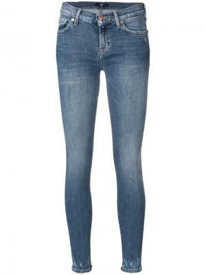 Distressed leg skinny jeans 7 For All Mankind
