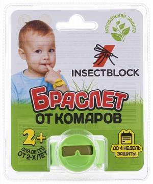Браслет от комаров детский Insectblock. Цвет: зеленый