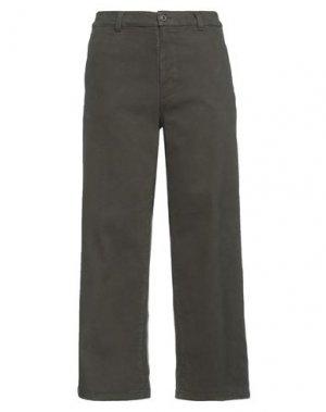 Повседневные брюки EUROPEAN CULTURE. Цвет: зеленый-милитари