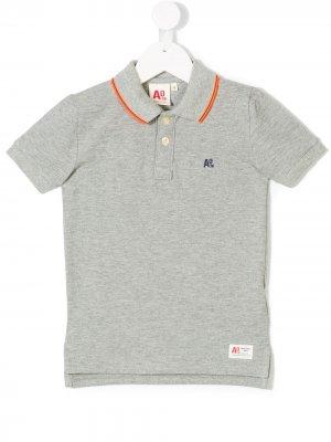 Рубашка-поло с полосками на воротнике American Outfitters Kids. Цвет: серый