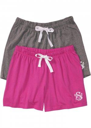 Шорты пижамные (2 шт.) bonprix. Цвет: серый