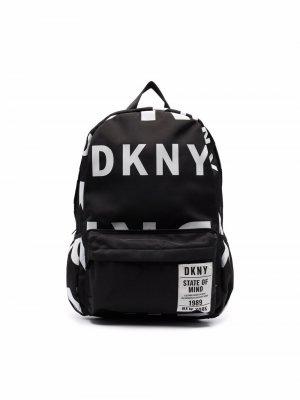 All-over logo print backpack Dkny Kids. Цвет: черный