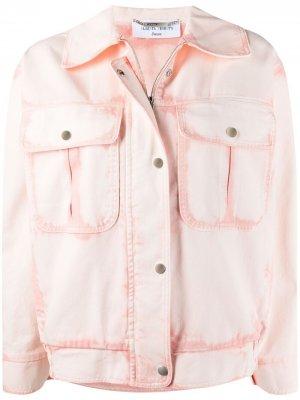 Джинсовая куртка Alberta Ferretti. Цвет: розовый