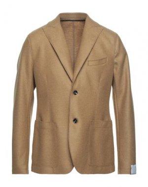 Пиджак PAOLO PECORA. Цвет: верблюжий