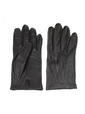 Классические перчатки Thom Browne. Цвет: чёрный