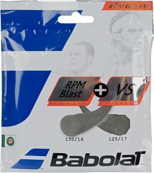 Струна Hybrid Rpm Blast 125 + VS 130 Babolat. Цвет: белый