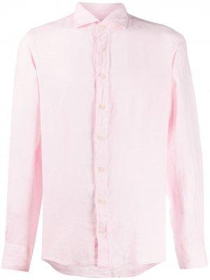 Однотонная рубашка Hackett. Цвет: розовый