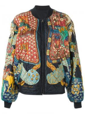 Двусторонняя куртка бомбер Hermès Vintage. Цвет: чёрный