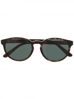 Солнцезащитные очки с логотипом Polo Ralph Lauren. Цвет: коричневый