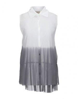 Pубашка FUZZI. Цвет: белый