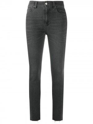 Укороченные джинсы скинни с необработанными краями IRO. Цвет: серый