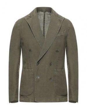 Пиджак BRANDO. Цвет: зеленый-милитари
