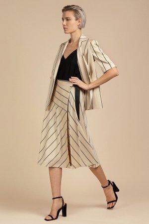 Расклешенная юбка-миди с запахом VASSA&Co. Цвет: бежевый