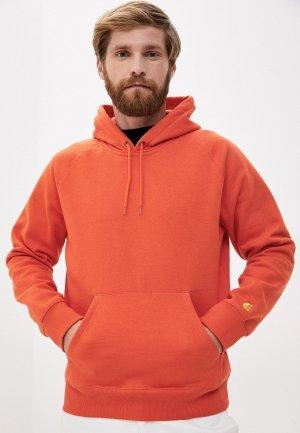 Худи Carhartt. Цвет: оранжевый