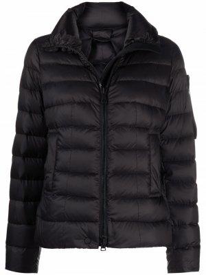 Logo patch zip-up padded jacket Peuterey. Цвет: черный