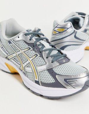 Серебристые кроссовки с золотистой отделкой Gel-1130-Серебряный Asics