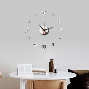 1 набор настенные часы с зеркальной поверхностью SHEIN. Цвет: многоцветный