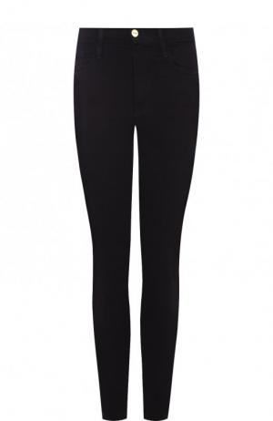 Однотонные джинсы-скинни Frame Denim. Цвет: чёрный