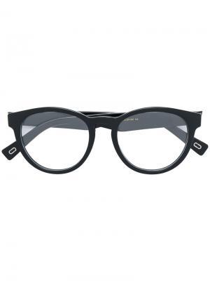 Очки в круглой оправе Marc Jacobs Eyewear. Цвет: чёрный
