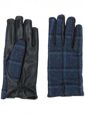 Клетчатые перчатки Etro. Цвет: черный