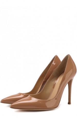 Кожаные туфли Gianvito 105 Rossi. Цвет: бежевый