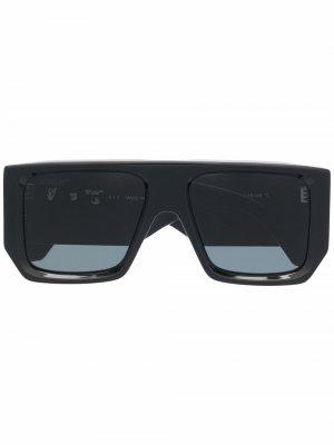 Солнцезащитные очки Tropez в квадратной оправе Off-White. Цвет: черный