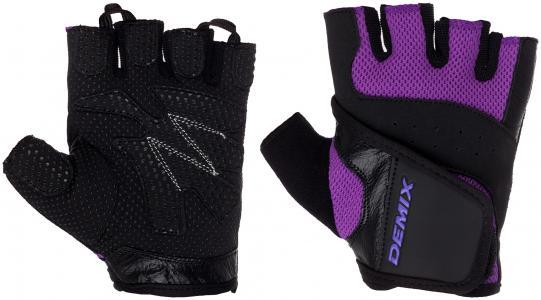 Перчатки для фитнеса Demix. Цвет: фиолетовый