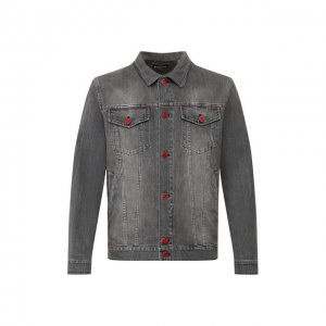 Джинсовая куртка Kiton. Цвет: серый