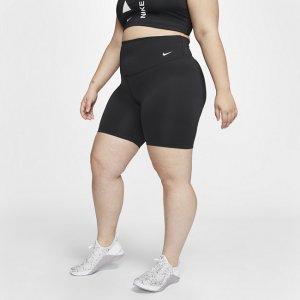 Женские шорты Nike One 18 см (большие размеры) - Черный