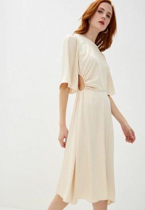 Платье Ba&Sh. Цвет: бежевый