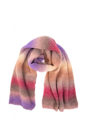 Шарф-палантин KOKALARSON. Цвет: розовый, серый, сиреневый