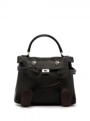 Мини-сумка Kelly Doll 2000-х годов лимитированной серии Hermès. Цвет: черный