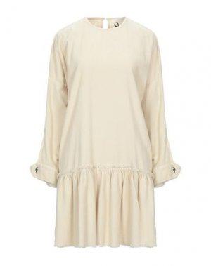 Короткое платье 8PM. Цвет: слоновая кость