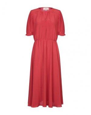 Длинное платье AROSSGIRL x SOLER. Цвет: красный