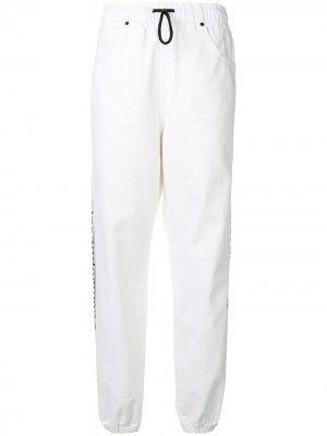 Спортивные брюки с логотипом на лампасах Alexander Wang. Цвет: белый
