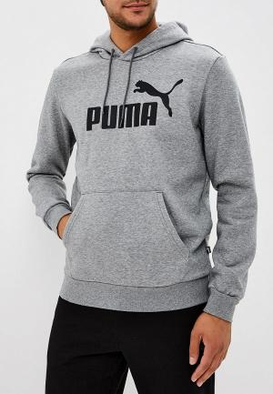 Худи PUMA ESS Hoody FL Big Logo. Цвет: серый