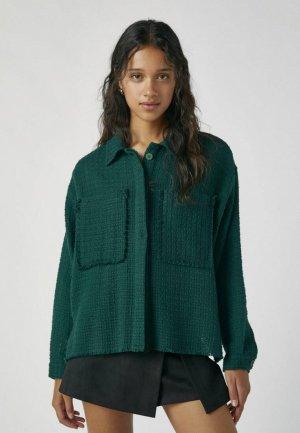 Блуза Pull&Bear. Цвет: зеленый