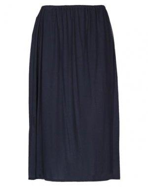 Юбка длиной 3/4 ALISA. Цвет: темно-синий