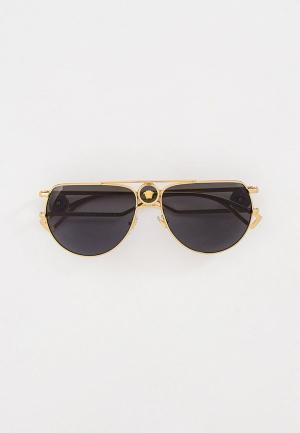 Очки солнцезащитные Versace VE2225 100287. Цвет: золотой