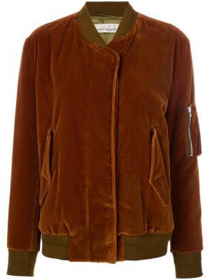 Куртка-бомбер Jonie Golden Goose Deluxe Brand. Цвет: коричневый