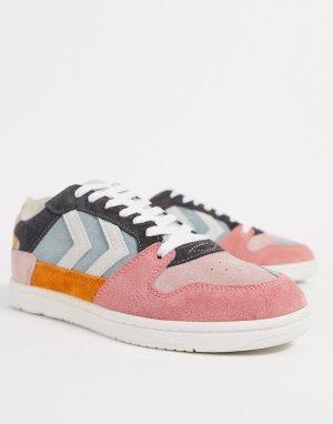 Разноцветные замшевые кроссовки -Мульти Hummel