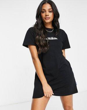 Черное платье-футболка -Черный Napapijri