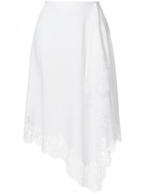 Lace trim handkerchief skirt Givenchy. Цвет: белый