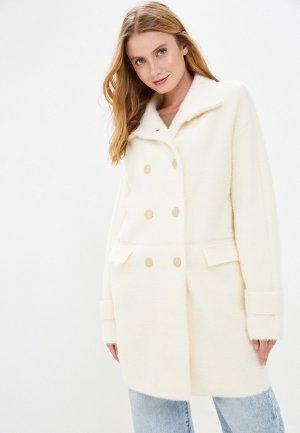Пальто Grand Style. Цвет: белый