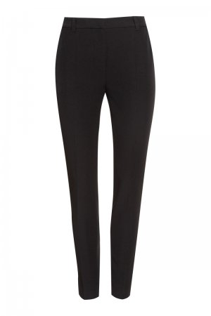 Классические зауженные брюки со стрелками VASSA&Co. Цвет: черный