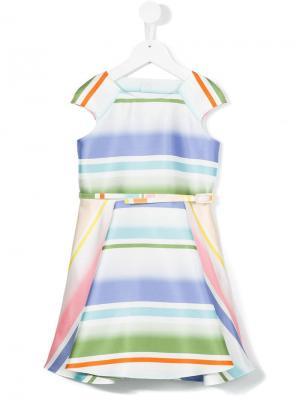 Полосатое платье Loredana. Цвет: синий