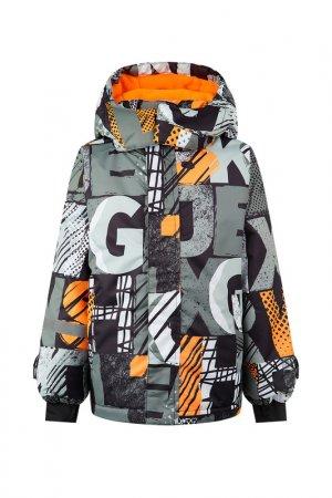 Куртка PlayToday. Цвет: черный, серый, оранжевый