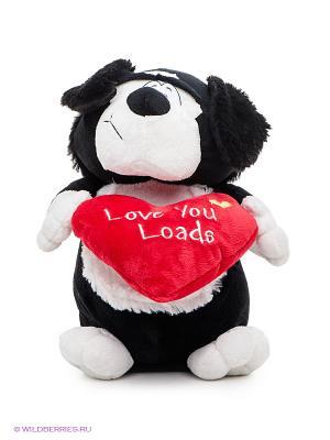 Мягкая игрушка пес Амур Fluffy Family. Цвет: белый, черный, красный